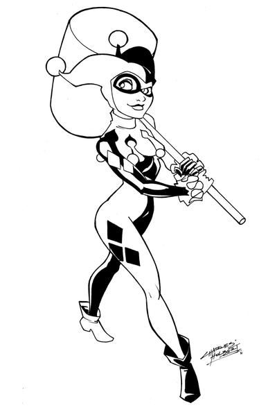 Harley Quinn Cartoon Coloring Pages Coloring Pages