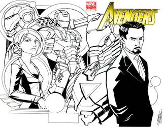 Avengers Sketch Variant by KidNotorious