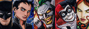 Batman sketch cards by KidNotorious