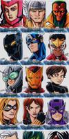 Avengers sketch cards Assemble