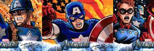 Avengers sketch cards Captain America