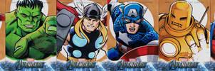 Avengers sketch cards Earths Mightiest