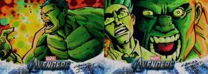 Avengers sketch cards Hulk