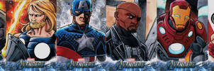 Avengers sketch cards The Ultimates