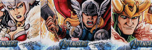 Avengers sketch cards Thor
