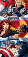 Avengers sketch cards