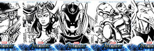 Avengers sketch cards Straight Ink