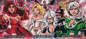 Marvel Beginnings 2 Women by KidNotorious