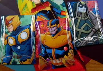 Marvel Premier Nova Thanos Ronan by KidNotorious