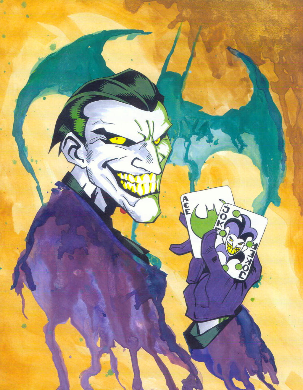 Watercolor Joker by KidNotorious