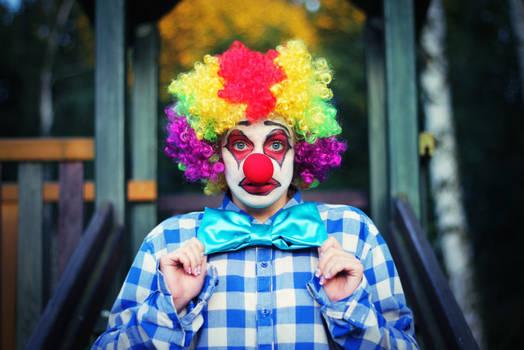 Gloomy clown
