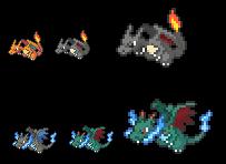 Pixel Art Dracaufeu Shiney