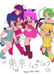 WIP Tokyo Mew Mew colouring