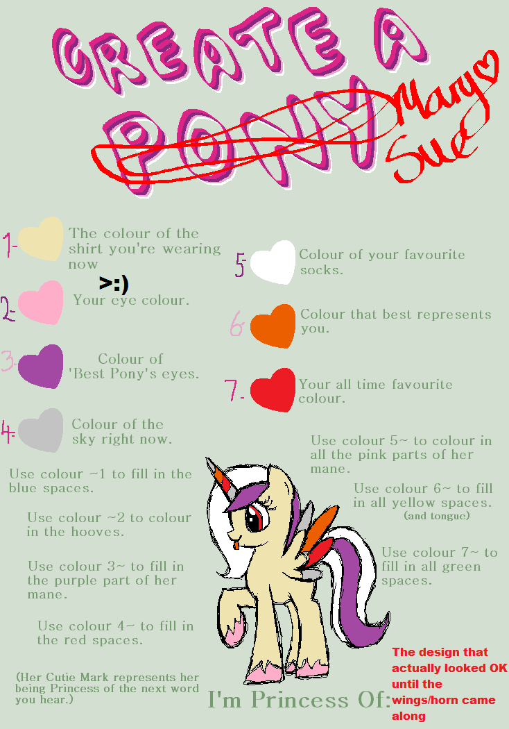 MLP Mary Sue Maker Meme   (XD) by Its-Mousepelt