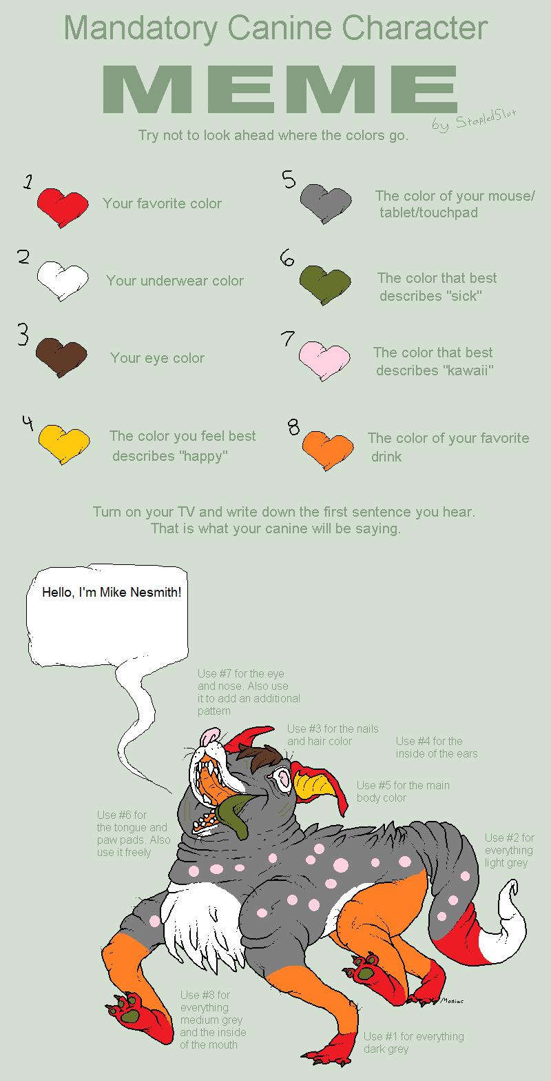 Mandatory Canine Character Meme by Its-Mousepelt