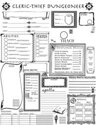 Labyrinth Lord Character Sheet - Cleric Thief by summersumz