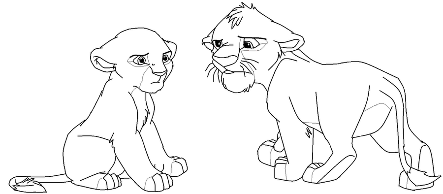 Line Art Lion : Lion king lineart by warriorsforestleaf on deviantart