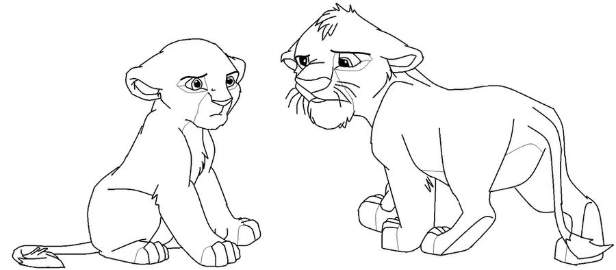 Line Art Lion : Lion king lineart by warriorsforestleaf on deviantart