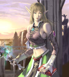 CG Girl SP3:'Elf_Magician' by iDNAR