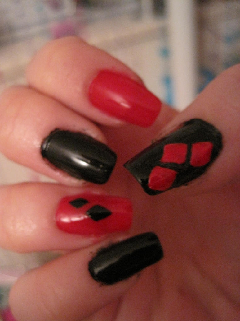 Harley Quinn Nails By Usagihimesama On Deviantart