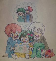 Happy family TodoDeku