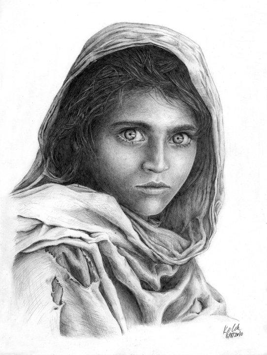 Afghan Girl by kelch12