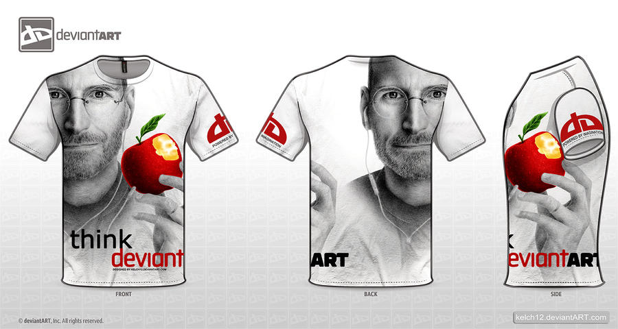 dA Tee - Think Deviant Color by kelch12