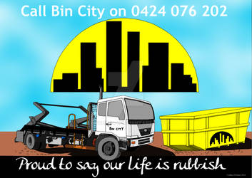 Bin City Poster final signed