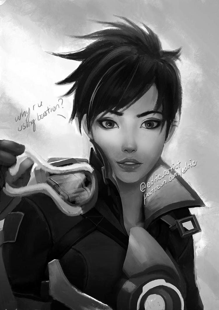 Overwatch tracer wip by luffie on deviantart for Painting games com