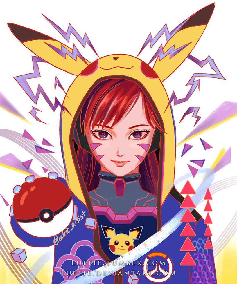 Dva Pokemon Trainer by luffie
