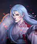 Sesshomaru, portrait of a demon lord by luffie