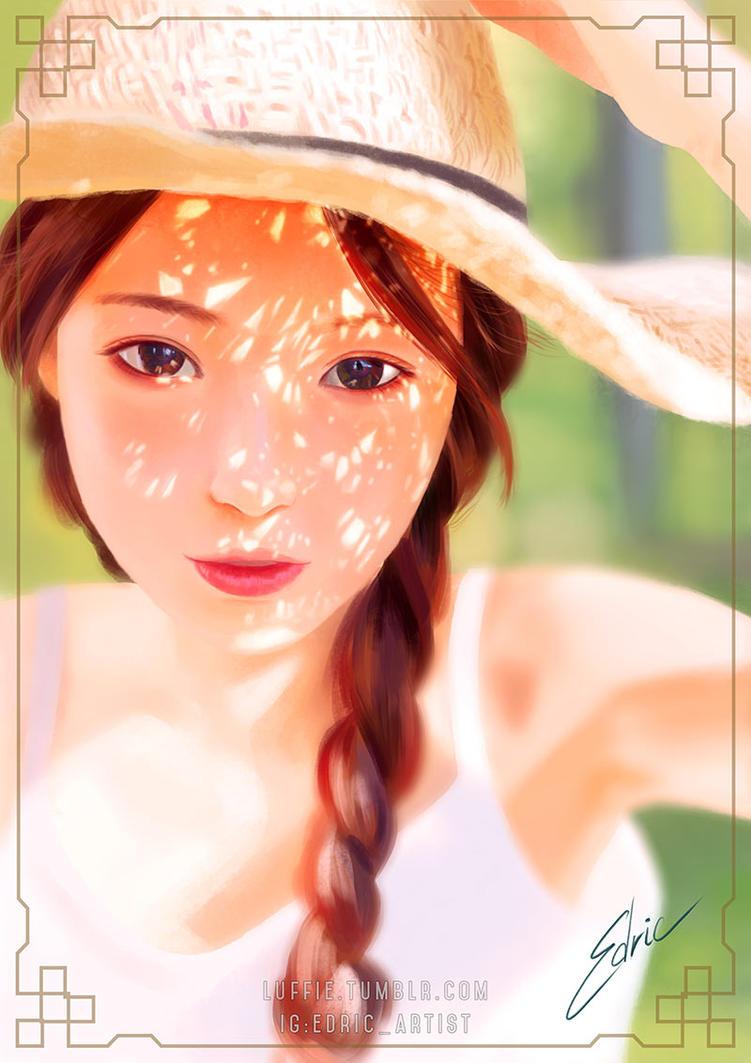 Straw Hat Girl by luffie