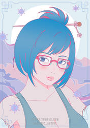 Overwatch Mei Pastel by luffie