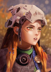 Aloy - Nora Lookout Headgear by luffie