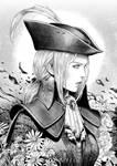 Bloodborne Lady Maria in ink