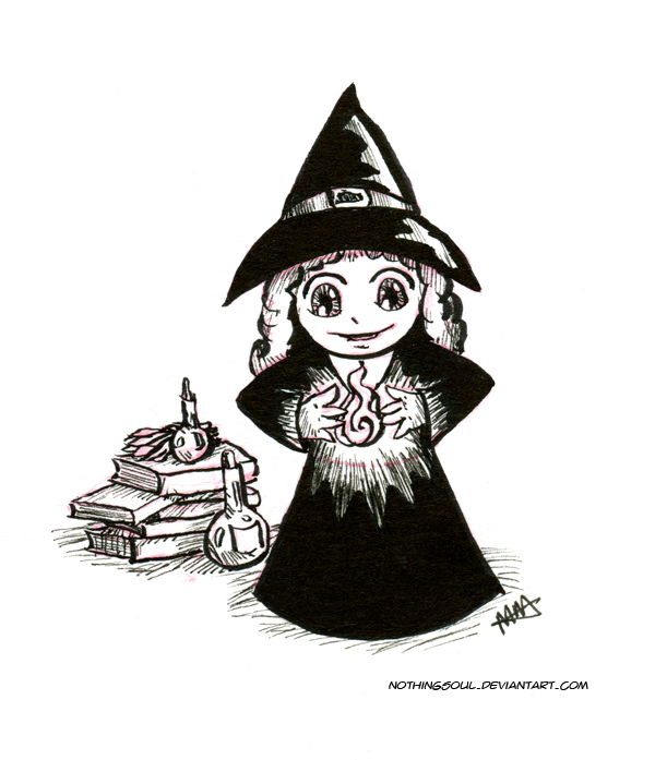 Little Witch (Inktober 2016) by NothingSoul