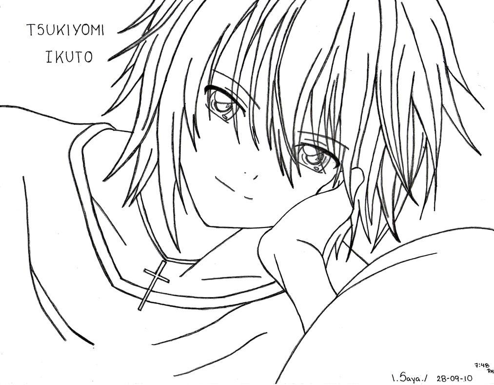 shugo chara coloring pages - ikuto tsukiyomi shugo chara by saya 07 on deviantart