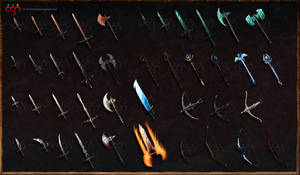 Dark Warriors - game weapons