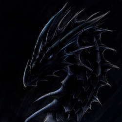 Dragon head of blackness