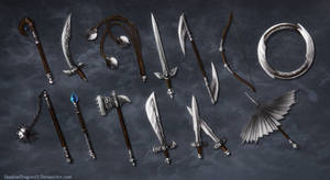 Weapons of Alfsigr Commission Batch by ShadowDragon22