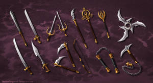 Weapons of Amity Commission Batch by ShadowDragon22