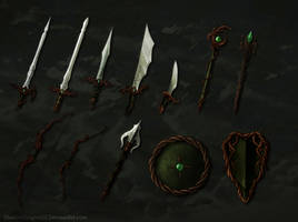 Elven Weapons Batch by ShadowDragon22