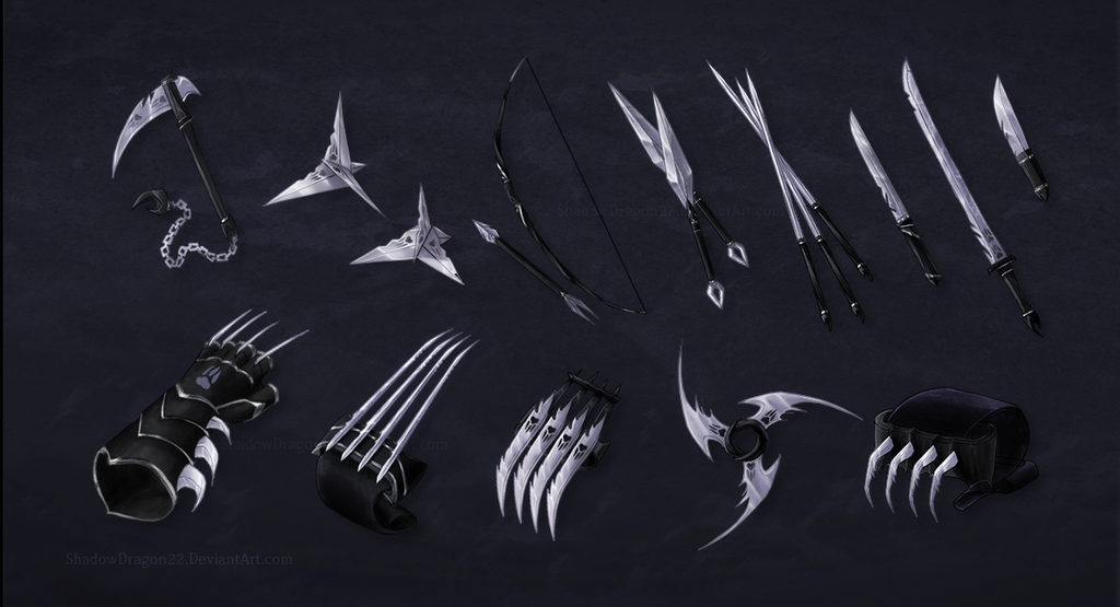 Werecat Assassin Weapon Commission Batch by ShadowDragon22 ...