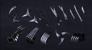 Werecat Assassin Weapon Commission Batch by ShadowDragon22