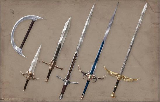Luminare Saga Character Weapons