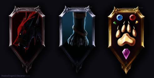 Wolf Emblem Commissions Batch1 by ShadowDragon22