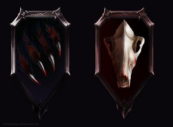 Assassin and Mercenary Emblem Commissions by ShadowDragon22