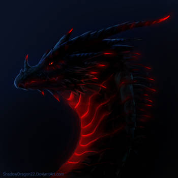 Dragon of the Red Glowies by ShadowDragon22