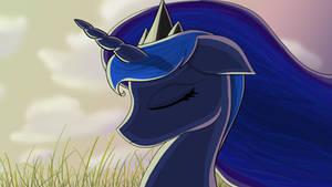 Luna At Dusk