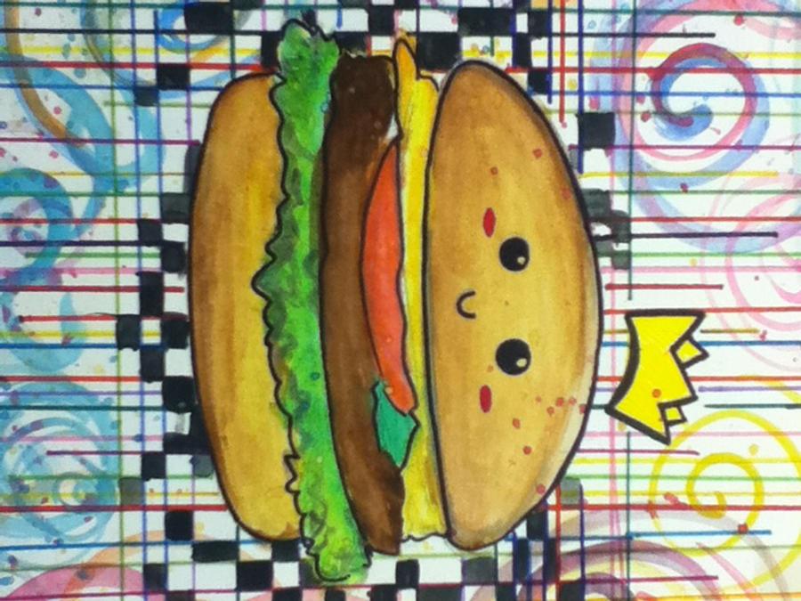 Cute Burger by jesusaurusrex